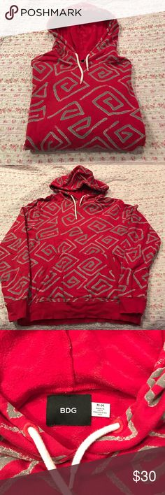 Urban Outfitters BDG Men's Hoodie sweatshirt Men's Urban Outfitters BDG hoodie sweatshirt. Great vibrant graphic print. Excellent condition with no signs of wear.  MEASUREMENTS:  armpit to armpit is 22 inches. Bottom band is almost 19 inches. Center back to bottom is 26 inches.  Sleeve measures approximately 27 inches. Urban Outfitters Shirts Sweatshirts & Hoodies