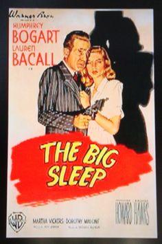 """The Big Sleep""  Film Noir Movie Poster."