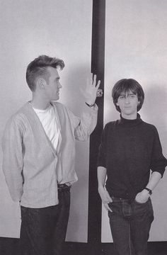 Johnny Marr with Morrissey, 1983.