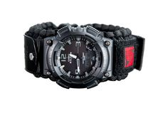 Black ops paracord military watch, customize your very own tactical watch here. Strap attach with military dog tag on Etsy, $134.05