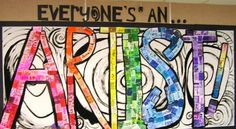 Trendy Collaborative Art Projects For Kids Middle School Bulletin Boards 35 Ideas Collaborative Art Projects, School Art Projects, Group Projects, Art Bulletin Boards, Art Boards, Contemporary Art Daily, Contemporary Abstract Art, High School Art, Middle School Art