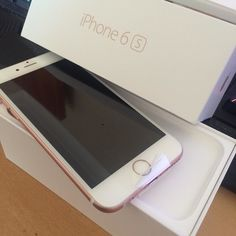 Yay my phone has arrived #iphone6s  I realise I'm behind and the #iphone7 is out soon but I usually am and my screen broke when I dropped it in the #iphone5s and I got 64gb  for the first time ever :)