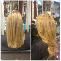 #blonde #hair #extensions #voodou #voodouliverpool Hair Extensions, Blonde Hair, Salons, Long Hair Styles, Beauty, Weave Hair Extensions, Extensions Hair, Lounges, Yellow Hair