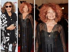 Diane Von Furstenberg busts out her new curly haired look