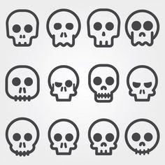 """A variety pack of skulls! alvaro_cabrera / Freepik : """"Crânio ícones coleção"""""""