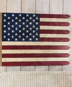 Americana Fence Flag Wall Art #zulily #zulilyfinds