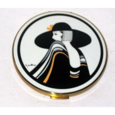 Vintage Art Deco Lady Compact By Stratton