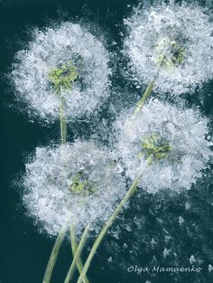 Dandelion Painting-Dandelion Art-Nursery Wall Art-Nursery