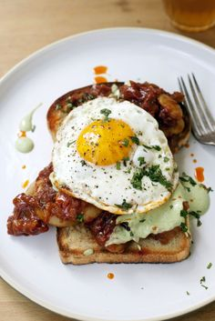Recipe: Indian baked beans on toast - black eyed peas, butter beans, onion The Globe and Mail Vegetarian Breakfast, Savory Breakfast, Breakfast Time, Breakfast Recipes, Vegetarian Recipes, Healthy Recipes, Breakfast Ideas, Breakfast Bowls, Baked Beans On Toast