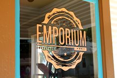 Copper leaf window for our friends at emporium pies. Everybody needs a good pie now and then! Give these guys a try!