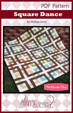 Square Dance Downloadable PDF Quilt Pattern<BR>Happy Quilting