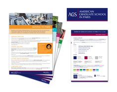American Graduate School in Paris – Logo and visual identity redesign, Stage 1, 2014