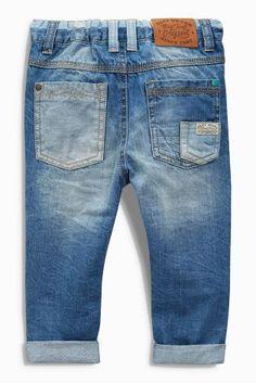 Buy Denim Mid Blue Workwear Jeans from the Next UK online shop Boys Jeans, Denim Jeans, Summer Boy, Kids Fashion Boy, Manish, Uk Online, Imvu, Kids Wear, Kids Boys