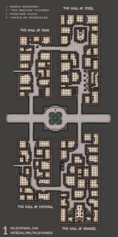 The Dwarven City of Brazenthrone – Milby's Maps Minecraft Kingdom, Minecraft City, Minecraft Construction, Minecraft Buildings, Minecraft Castle Blueprints, Minecraft Building Guide, Minecraft House Plans, Minecraft Cottage, Minecraft Decorations