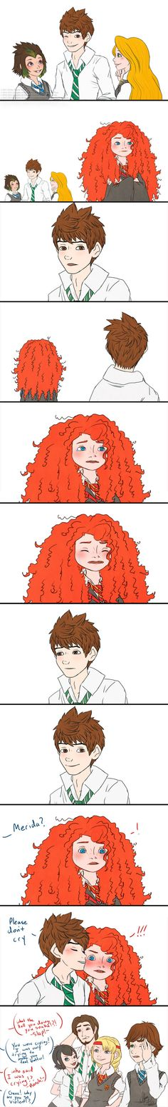 Hogwarts AU: Merida and Jack>>>>>when you realize the girl at the end with the black hair was Mavis from hotel Transylvania