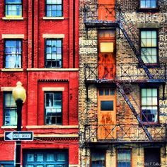 20 Gorgeous Photos That Explain Why NYC's Fire Escapes Shouldn't Go Extinct #refinery29 http://www.refinery29.com/2015/04/85602/nyc-fire-escape-code-safety-issues#slide-1 Sometimes, there's only one way down.