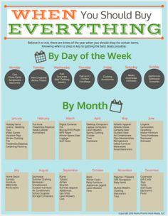 A common question we get asked quite frequently is when readers should shop for items such as linens, computers, etc.  We have taken all of those answers and put them together in this easy to read infographic:  When You Should Buy Everything. Click HERE to download. We've not only got the items which are on …