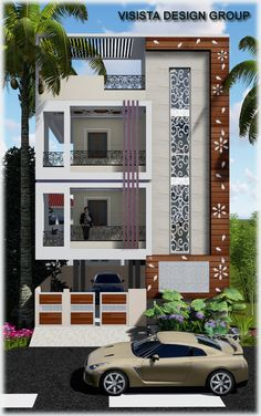 66 Beautiful Modern House Designs Ideas - Tips to Choosing Modern House Plans Modern Exterior Design Ideas Luxury Home House Outer Design, House Front Wall Design, Village House Design, Small House Design, Best Modern House Design, Modern Exterior House Designs, Latest House Designs, Exterior Design, 3 Storey House Design