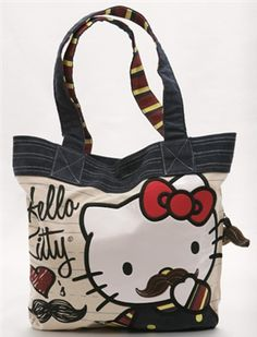 Hello Kitty Mustache Tote Bag Hello Kitty Handbags 28cb4b2e1e71a