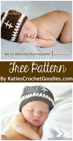 Free Football Hat Pattern by Katie's Crochet Goodies & Crafts
