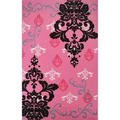 by at walmart 40.00 and great reviews  Graphic Damask 53 x 83 Rug, Pink