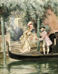 Итальянский художник Cesare Auguste Detti