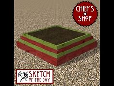 Chief's Shop Sketch of the Day: Tiered Planter - YouTube