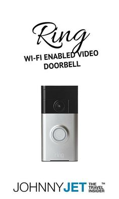 Ring comes with an 180-degree, angled HD video camera that has smart-motion detection and cloud-recording. So when the doorbell rings or if someone comes within a certain number of feet of your door (you can set it to the distance you want), you're alerted by a call or text to your phone.