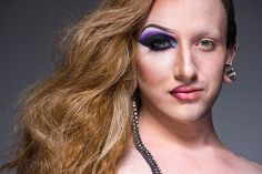 Double Take: We Can't Stop Staring At These Half-Drag Portraits