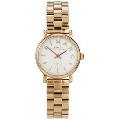 Marc By Marc Jacobs Baker Mini Rose Gold Watch MBM3248 ($325) ❤ liked on Polyvore