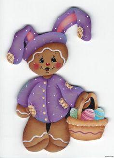 HP GINGERBREAD Purple Bunny Suit FRIDGE MAGNET