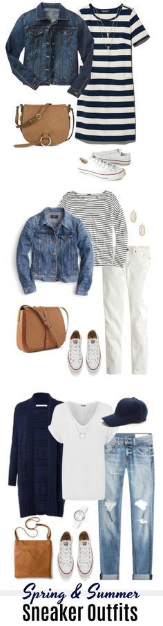 These spring and summer sneaker outfits for women are about both comfort and style. Because casual does not mean sloppy. Come check out all five outfit ideas! #sneakers #sneakeroutfits #outfitideas #outfits #outfitoftheday #casual