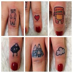 adorable knucks // 23 Knuckle Tats That Pack A Serious Punch