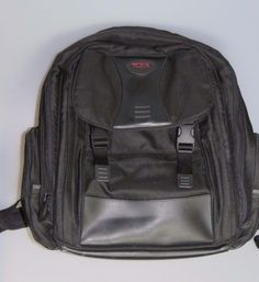 TUMI T2 Laptop Briefcase Backpack Bag Black Ballistic Nylon #Tumi #Backpack