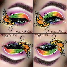 ~.ButterFlutterButterfly.~ #eyes #colorful #eyeshadow #eyemakeup - bellashoot.com