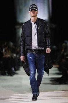 Dsquared2 Menswear Fall Winter 2015 Milan - NOWFASHION Dope Fashion, Denim Fashion, Daily Fashion, Fashion Men, Look 2015, Men's Leather Jacket, Country Fashion, Men's Wardrobe, Men Style Tips
