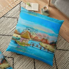 Large Cushions, Weird Holidays, Meaningful Gifts, Pillow Design, Hampshire, Top Artists, Floor Pillows, Vibrant, Flooring