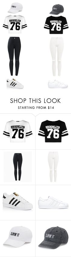 """Untitled #35"" by lemonitadr on Polyvore featuring Boohoo, Topshop, adidas and SO"