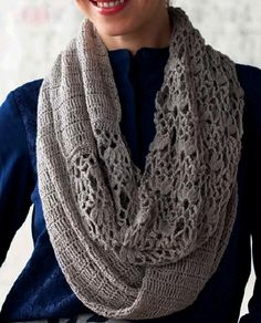 See that lovely pattern in scarf crochet yarn store - Free Patterns in Crochet