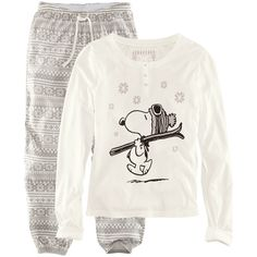 H Pyjamas ($24) ❤ liked on Polyvore. I want this so bad for Christmas time!