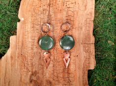 Extra Large Jade Coin and Copper Tanfouk by mirabiliajewelry, $40.00