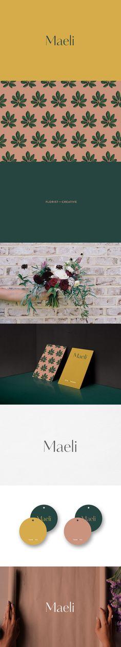 New in portfolio | Maeli florist branding | Leysa Flores Design