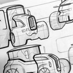 Skecthes we like / pen / Outlines / Tractors on Behance
