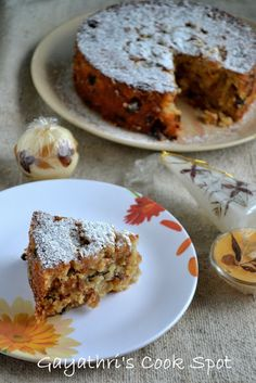Wishing All My Readers A Merry Christmas Let us celebrate Christmas with this delicious eggless Plum Cake. This was the other recipe which Swathi gave for the Baking Partner's challeng… Eggless Desserts, Eggless Recipes, Eggless Baking, Cooking Recipes, Vegetarian Recipes, Egg Free Cakes, Desserts Around The World, Plain Cake, Brownie Cake