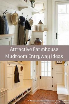 ✓ 10 Attractive Farmhouse Mudroom Entryway Ideas - Even a shallow house, just like the one pictured right here, can perform as a mudroom with inventive storage design. Small Mudroom Ideas, Entryway Ideas, Foyer Design, Diy Design, Ikea Mud Room, Small Entryways, Foyer Decorating, Storage Design, Farmhouse Ideas