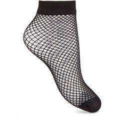 Miss Selfridge Medium Fishnet Socks ($7) ❤ liked on Polyvore featuring intimates, hosiery, socks, black, fishnet socks, miss selfridge and fishnet hosiery