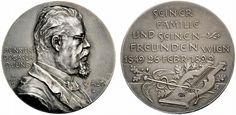 Cubasch, Heinrich (1849-1904), coin dealer in Wien; medal 1899 by F. X. Pawlik (see also Koch 1970, pl. 18, 75)