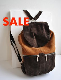 Upcycled suede backpack SALE Backpack Sale 6eceb9c45640a