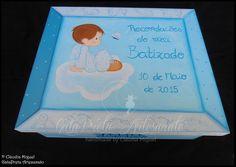 """Caixa grande de batizado """"Anjinho nas Nuvens"""""""