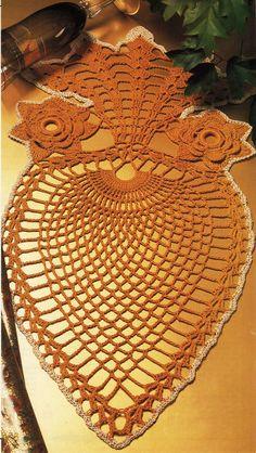 Giant Pineapple x Advanced Amusement Table Center Crochet DOILY Pattern Crochet Dollies, Crochet Flower Patterns, Crochet Art, Filet Crochet, Crochet Motif, Crochet Designs, Crochet Flowers, Serger Sewing, Pineapple Crochet